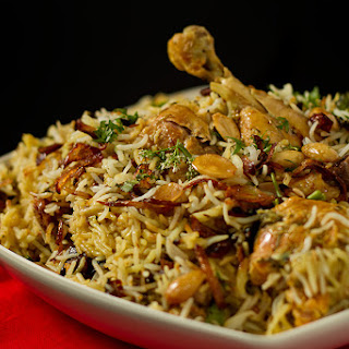Hyderabadi Chicken Biryani.