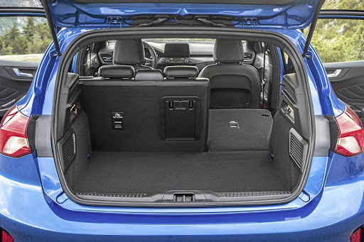 Luggage space is good and there is a 60:40 split folding rear seat. Picture: FORD