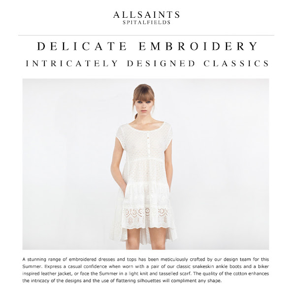 Photo: Introducing to you, a stunning range of embroidered dresses and tops has been meticulously crafted by our design team for this Summer.  Shop all Womenswear Dresses>> UK> http://bit.ly/JcZXcU US> http://bit.ly/L1DUsf
