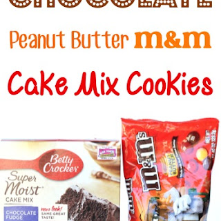 Chocolate Peanut Butter M&M Cake Mix Cookie Recipe!