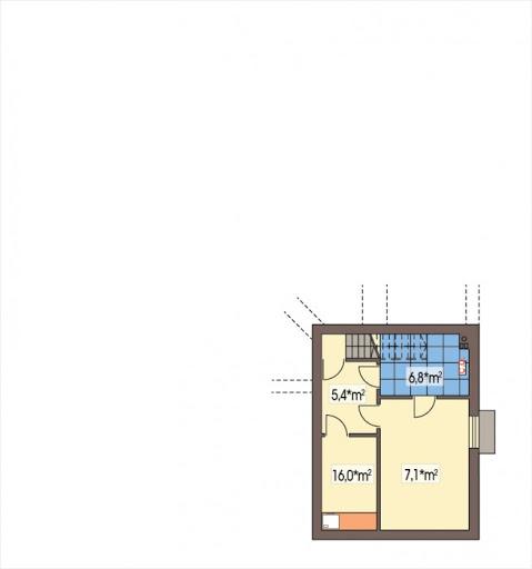 Lawenda II wersja A z piwnicą - Rzut piwnicy