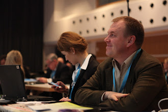 Photo: Stanislav Naumov watching Privacy vs Publicity Debate, 2012