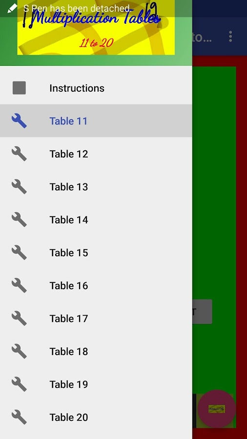 Worksheet 11 To 20 Tables multiplication tables 11 to 20 android apps on google play screenshot