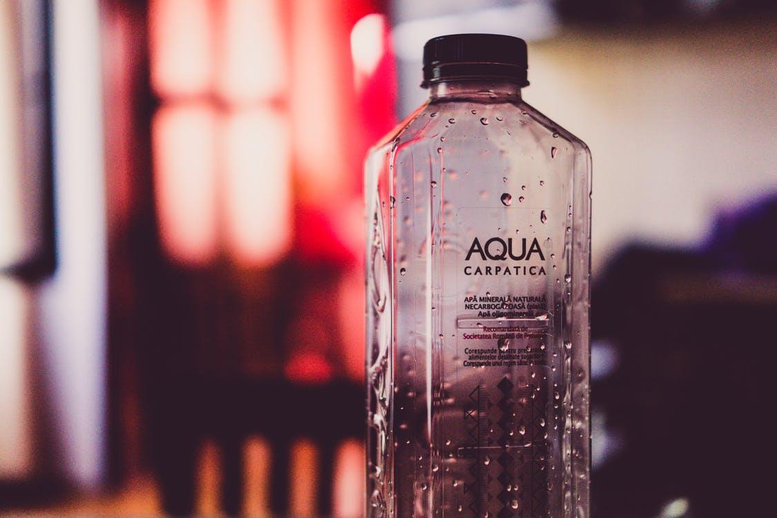 Empty Aqua Plastic Bottle