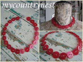Photo: collana di bottoni madreperla vintage, giorocollo