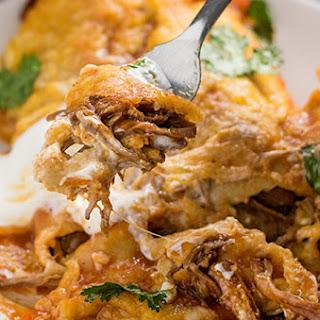 Shredded Beef Enchiladas.