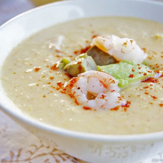 Chilled Southwestern Corn and Shrimp Chowder
