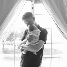 New dad by Michelle J. Varela - People Family