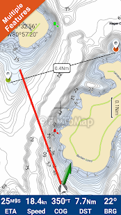 Lake Norman GPS Offline Fishing Charts Navigator - náhled