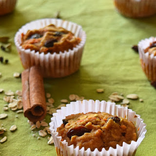 Healthy Apple Carrot Oatmeal Muffins.