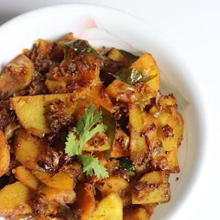 Sweet Potato Stir Fry   Chilakada Dumpa Fry