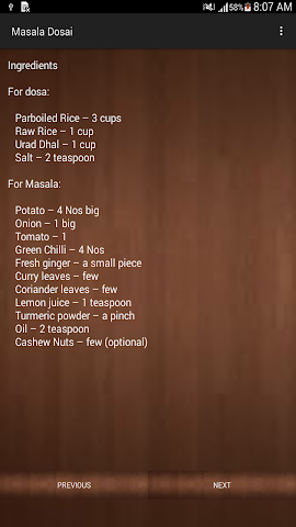 android South Indian Breakfast Recipes Screenshot 1