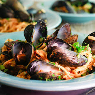 Sausage and Mussels Linguini.
