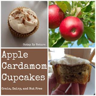 Apple Cardamom Cupcakes (Grain Free, Dairy Free, Nut Free).