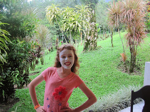 Photo: Genevieve with volcanic face mask