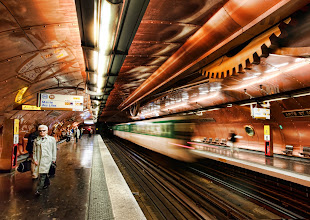 Photo: Exclusive to Google+ First Post! - Thx for re-shares and everything… I'm happy to give back with things like this… I love this stuff...  Time Traveling in the Steampunk Subway - Thank you for the inside tip on this amazing place from Friend X.  This incredible subway station under Paris has undergone a full Steampunk conversion, thanks to the mind of François Schuiten, a comic book artist from Belgium. Each tiny circular window lining the edges is a portal to another world. This is all influenced by Les Cités Obscures, where humans live on the counter-Earth. A wonderful concept… I think many of us on Google+ already feel one with the idea of the counter-Earth.  If you'd like to visit this stop someday, pull up a huge subway map and find your connections to the Arts et Métiers stop. It's kind of out of the way, but just bring your camera and your imagination, and you'll be there soon enough...  Click to see the full size for more hidden secrets... - Full size avail SmugMug at http://stuckincustoms.smugmug.com/Portfolio-The-Best/your-favorites/10668747_AuyBk/1400689593_gFr6cNn/A