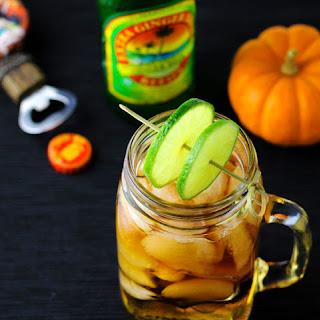Mason Jar Dark and Stormy Cocktail.