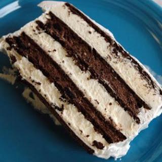 OREO AND FUDGE ICE CREAM CAKE