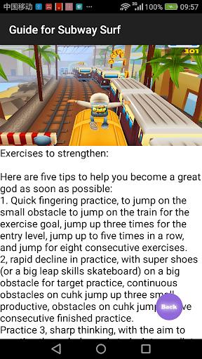 Guide for Subway Surf 1 screenshots 3