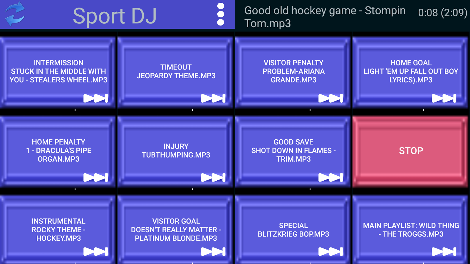 Sport DJ- screenshot