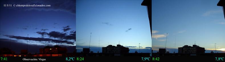 Photo: Amanecer del día 11/01/11