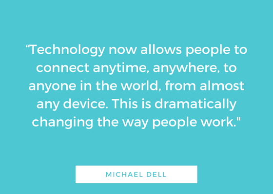 michael dell work remotely
