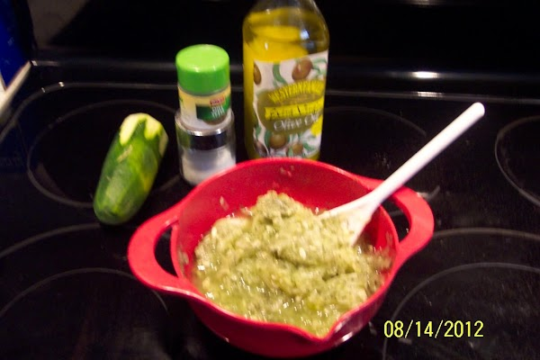 Mix the first 6 ingredients, and marinate in refrigerator 2-4 hours. Then puree the mix...