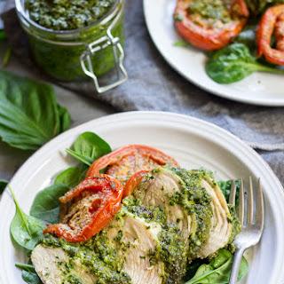 Easy Paleo Pesto Baked Chicken {Whole30} Recipe