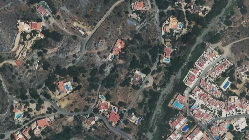 Imagen aérea de la zona en la que se ubicará la variante.