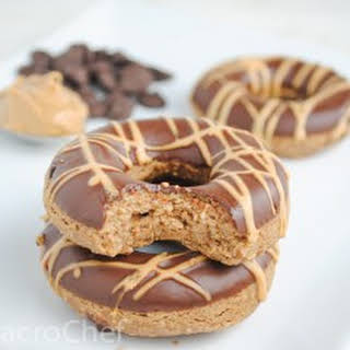 Chocolate Peanut Butter Protein Donuts.