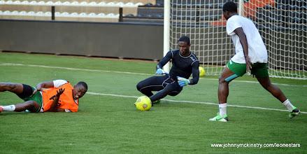 Photo: Solomon Zombo Morris   [Training camp ahead of Leone Stars v DR Congo on 10 September 2014 (Pic © Darren McKinstry / www.johnnymckinstry.com)]