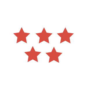 5 red stars