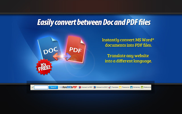 FromDocToPDF chrome extension