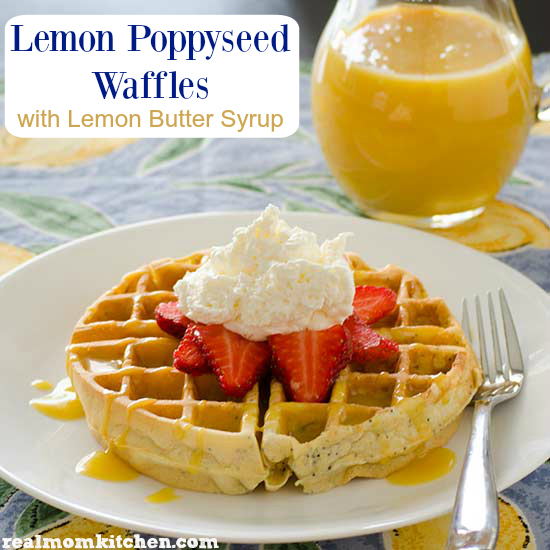 Lemon Poppyseed Waffles Recipe