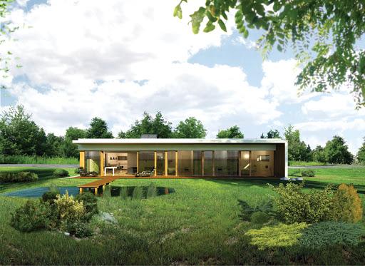 projekt Dom oszczędny - z wentylacją mechaniczną - EC317
