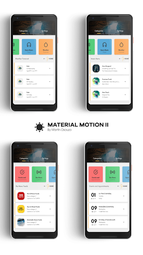 MATERIAL MOTION II for KLWP screenshots 1