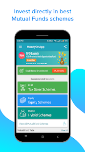 Mutual Fund App, SIP, ELSS - Money On App Screenshot