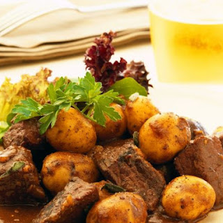 Cubed Beef Casserole with Potatoes.