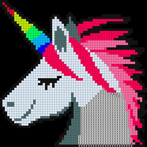 Pixel Art Color By Number Sandbox Coloring Book