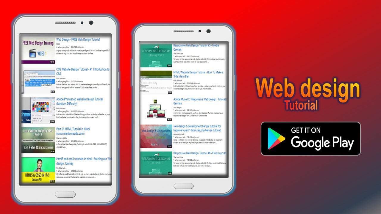 Web design tutorial android apps on google play web design tutorial screenshot baditri Image collections