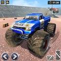 US Police Truck Crash Demolition Derby Racing icon