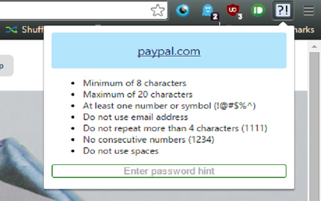 Password Hint