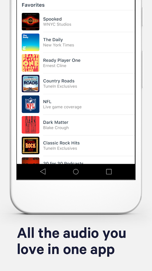 TuneIn Radio: Stream NFL, MLB, Music & Podcasts- screenshot