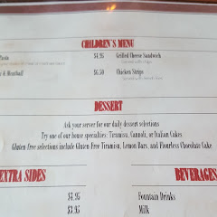 GF desserts on the menu but ask the waitress for more options