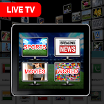 Live TV HD -World News, Sports & All TV Channels icon
