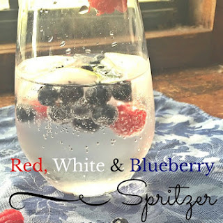 Red, White and Blueberry Spritzer