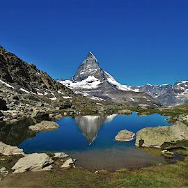 by Phil Bear - Landscapes Mountains & Hills ( zermatt, mountains, alps, reflection, switzerland, matterhorn, lake )