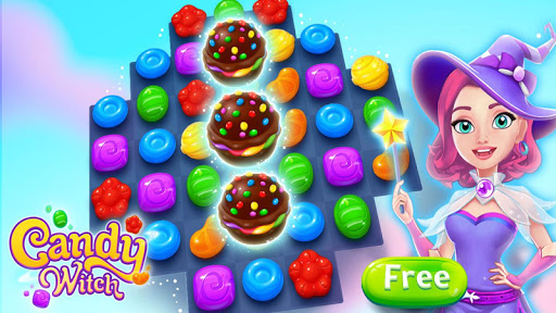 Candy Witch - Match 3 Puzzle Free Games apkdebit screenshots 15