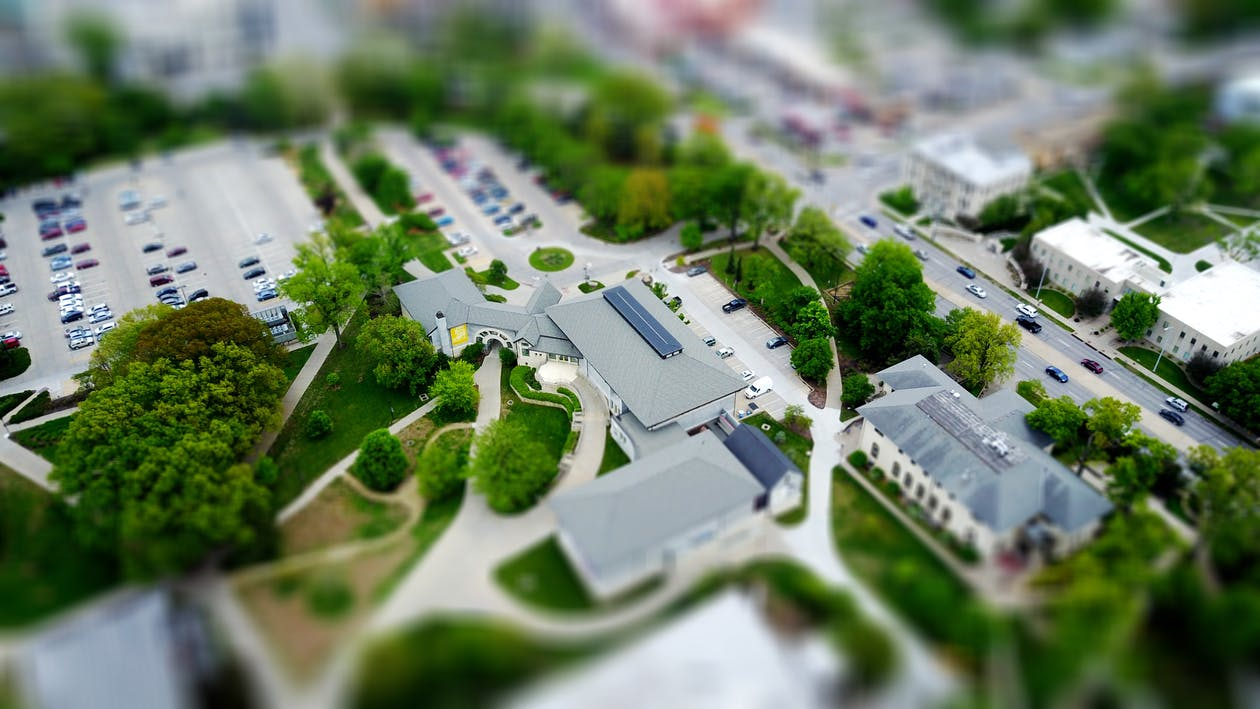 Tilt-shift Photography of Houses