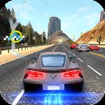 Racing in speed car